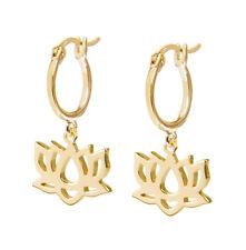 Daisy London NEW! 18ct Gold Plated Lotus Good Karma Drop Earrings