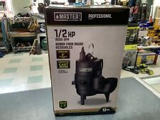 Master Plumber 540155 1/2 Hp Cast Iron Automatic Submersible Sewage Pump