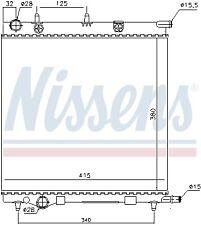 Radiator fits PEUGEOT 207 Box - 07> - NS61284