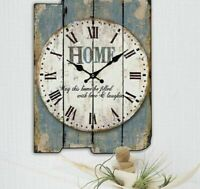 Wooden Wall Clocks Living Room Decoration Retro Creative Home Watch Timing Tools