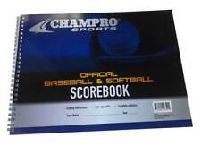 Champro Sports Baseball/Softball Score Book, 18 Player Spaces & Line-up A07
