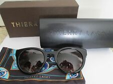 New Authentic Thierry Lasry Creamily 101 Black Cat Eye Sunglasses $485 w/ Case
