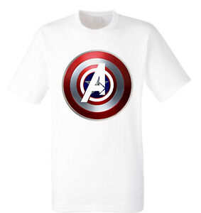 Captain America Shield T-Shirt, Marvel, Avengers, Super Hero, for Adult & Kids