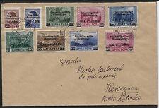 Besetzung 2. Weltkrieg Montenegro 20-28 auf R-Brief nach Hercegnovi FDC (B06518)