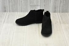 TOMS Deia Ankle Boots - Big Girl's Size 6 - Black