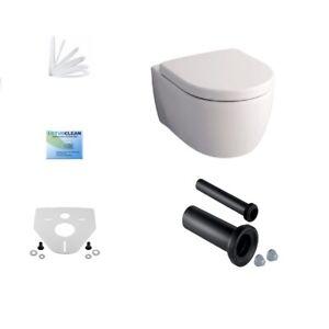 Geberit Icon WC spülrandlos WC Sitz Beschichtung Anschlussset wandhängend