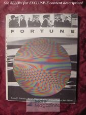 FORTUNE October 1962 Oct 62 RCA COLOR TV ROYAL LITTLE CROWN CORK +++
