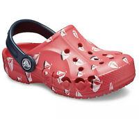 Crocs Baya Sailboats Clogs Kids Slip-On Printed Clog Juniors Size 3  J3 NWT