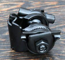"Black Vintage Schwinn Fixie Bicycle Saddle Single Seat Rail Clamp Bike 7/8"" post"