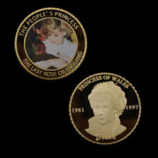 Princess Diana Metal Coin Gold Foil Challenge Coins Christmas Gifts Collections