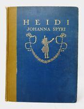 Heidi Johanna Spyri 1919 Special Edition Laid In Color Illustrations Lippincott