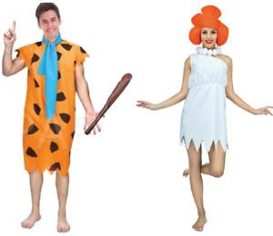 The Flintstones Wilma & Fred Flintstone Adult Ladies Mens Costume 70s TV Cartoon