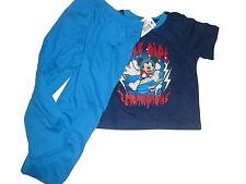 NUEVO estupendo Pijama Talla 86 / 92 azul con Mickey Mouse Motivo