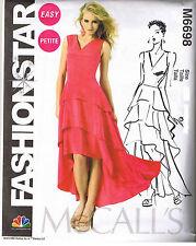 Easy Fashion Star Flounce Dress Peplum Top McCalls Sewing Pattern Sz 4 6 8 10 12