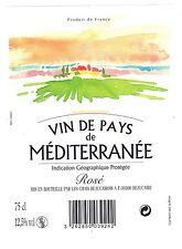 Etiquette de vin - Vin de pays de Méditerranée