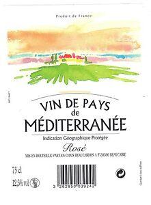 Étiquette de vin - Vin de pays de Méditerranée  (140)