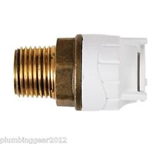 "10 x Polyfit 15mm x 1/2"" BSP male brass iron adaptors. Polyplumb underfloor"