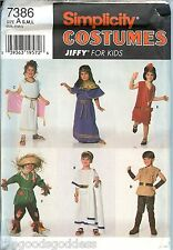 Simplicity 7386 CHILD Jiffy TOGA Flapper Scarecrow Costume Pattern UNCUT FF
