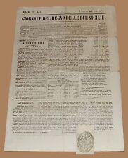 Giornale del Regno delle Due Sicilie 18 Novembre 1842 Mazzarino Caltanisetta