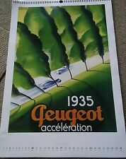 023 Peugeot 1935 Acceleration Poster Print 22 1/4 by 16 inches