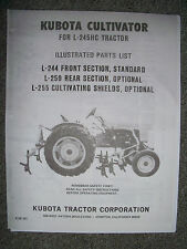 KUBOTA CULTIVATOR Parts List for L-245HC Tractors