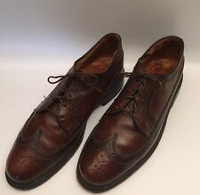 British Walkers Custom Men's Leather Wing Tip Oxford Dress Shoes Size 9.5 D