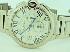 Mens Cartier Ballon Bleu XL Chronograph 18K Solid Gold 47mm
