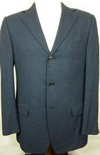 NEW $2295 Ermenegildo Zegna Lightweight Blue Check Silk and Wool Sport Coat 40L
