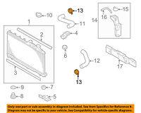 SUBARU OEM 05-09 Legacy 2.5L-H4 Radiator-Lower Hose Clamp 909170067