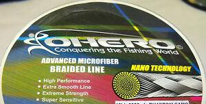 OHERO ADVANCED BRAIDED MICROFIBER FISHING LINE-- 30 lbs -300 YDS - CHOOSE COLOR