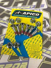 6 x Racing Piñón Pernos de fábrica de Apico Para Bicicletas De Motocross MX Enduro M8 X 30mm