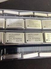 X25 ** NUOVO ** act1100p OSCILLATORE a cristallo 24.576 MHz 4 PIN FORO PASSANTE