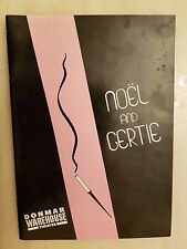 Theatre Programme  LEWIS FLANDER PATRICIA HODGE in & as NOEL AND GERTIE