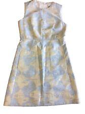 PAULE KA Women's Puzzle Jacquard A-Line Dress, Sky, Size:40/ US8      $825.00