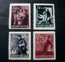 "CROAZIA Indipendente HRVATSKA  1945"" Pro Postelegrafonici""  4 V. Cpl set MH*"