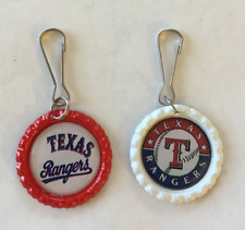 Handmade Texas Rangers Zipper Pull Set of 2