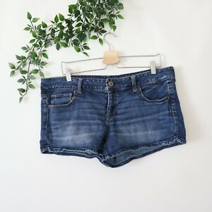 American Eagle Women's Stretch Shortie Denim Jean Shorts Size 16