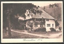 Schwarrwaldhaus Germany Black Forest House 1910 PC by Johannes Elchlepp UNUSED