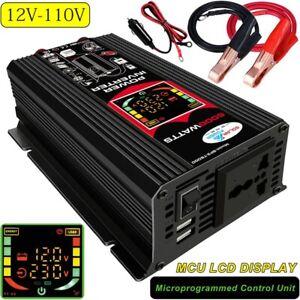 6000W Car Power Inverter 12V DC to 110V AC Power Sine Wave Converter Transformer