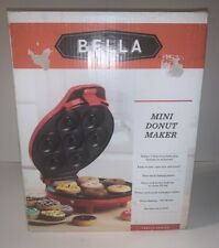 Bella Mini Donut Maker, Red, Bake 7 Donuts in Minutes! Item #13466 NEW IN BOX