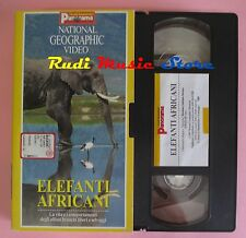 film VHS cartonata NATIONAL GEOGRAPHIC VIDEO ELEFANTI AFRICANI 1997 (F38) no dvd
