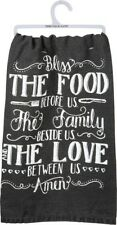 Bless The Food Before Us The Family Beside Us~Tea Towel~Hand/Kitchen/Dish~C otton