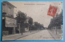 CPA 1915 VILLEMOMBLE 93 Allée Erasme Commerce Boucherie Col PORTELANCE Le Raincy