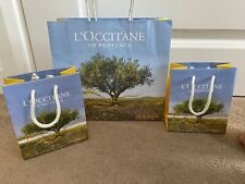 L'occitane En Provence Paper Gift Bags x 3 Bags in Medium & Small - NEW