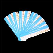 10pcs Teeth Whitening Paper 3D Shade Guide Card Dental Supplies H*qi