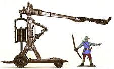 Pressman Toys 9149- 54mm Trebuchet Catapult - unpainted plastic, metal spring