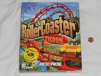 NEW Roller Coaster Tycoon 1 PC Game BIG BOX SEALED 1999 Computer rollercoaster