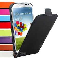 Genuine Leather Slim Leather Flip Case Cover For SAMSUNG GALAXY S4 S5