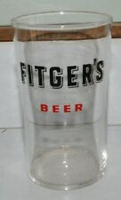 Vintage Fitgers Beer Duluth Minnesota Red & Black glass