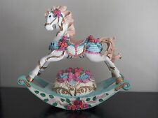 """8"""" ROCKING HORSE Music Box CAROUSEL ~ plays """"You are my sunshine"""""""